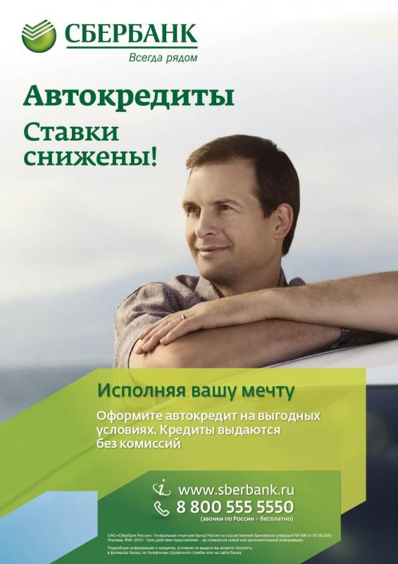 Сбербанк автокредит