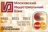 карта Минбанка-карта Московского Индустриального Банка