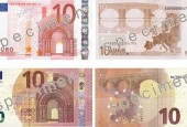 Новые банкноты из Европы 10 EUR - евро